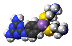 Space-filling model of the melarsomine molecule