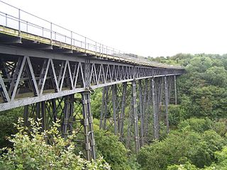 Meldon Viaduct bridge in United Kingdom