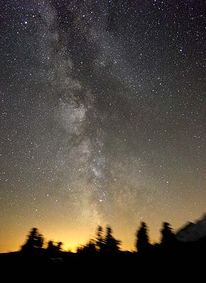 English: Milky Way seen from Earth Nederlands:...