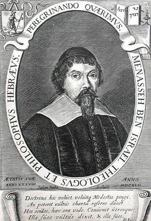 Menasseh Ben Israel - Engraved portrait by Salomo d'Italia, 1642