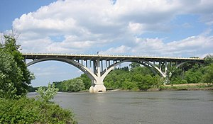 Minnesota River - The Mendota Bridge crossing the Minnesota River, just above its mouth