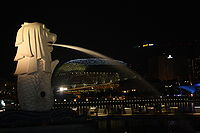 Merlion at night.JPG
