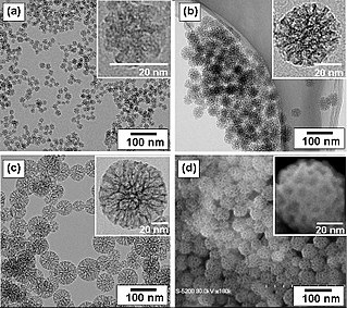 Nanoparticle Particle with size between 1 and 100 nm with an outer layer