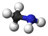 Molecuulmodel van monomethylamine