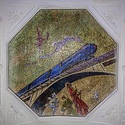 Metro MSK Line2 Novokuznetskaya Mosaic Skiers