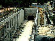 Obras del Metro de Santo Domingo