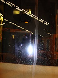 Metrocar cab CCTV camera, Tyne and Wear Metro depot open day, 8 August 2010.jpg