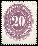 Mexico 1886 20c Sc182 unused.png