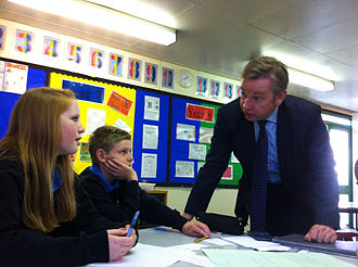 Michael Gove - Gove, as Education Secretary, at Chantry High School, Ipswich