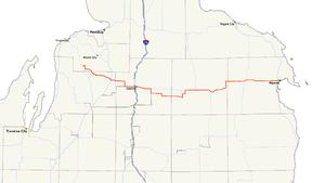 M-32 (Michigan highway) - Image: Michigan 32 map