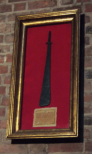 Sword of Saint Peter - The copy of Saint Peter's Sword displayed in Poznań Archcathedral.
