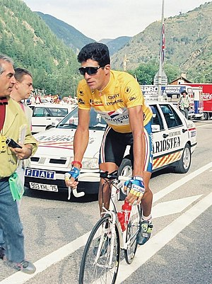 1995 Tour de France - Miguel Indurain (pictured at the 1993 Tour), winner of the general classification