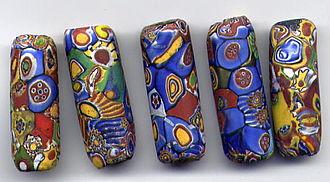 Millefiori - Millefiori beads, 1920s