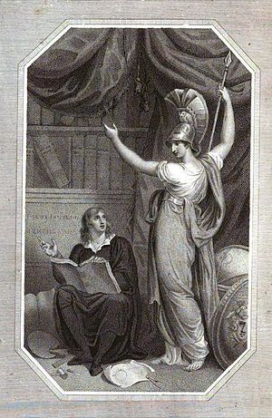Encyclopædia Perthensis - Minerva directing study to the attainment of Universal Knowledge, frontispiece to Encyclopaedia Perthensis, second edition 1816