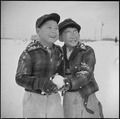 Minidoka Relocation Center, Minidoka, Washington. These two boys are rapidly developing a love for . . . - NARA - 536536.tif