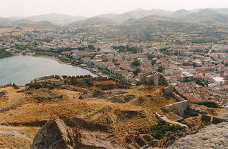 Lemnos - Panoramic view of Myrina