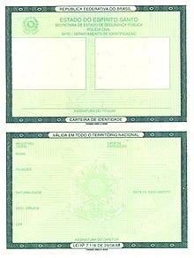 d9b1b3089 Cédula de identidade – Wikipédia