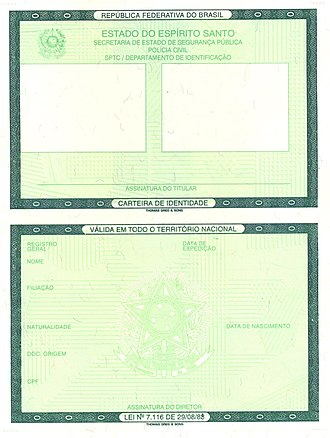 Visa requirements for Brazilian citizens - Just a Brazilian identity card is valid for travel to most South American countries.