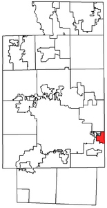 Location within Summit County