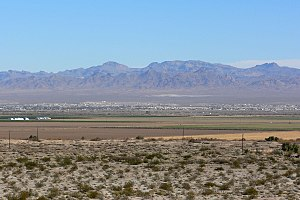 Mohave Valley - Mohave Valley, looking southwest Dead Mountains and Sacramento Mountains in CA in distance