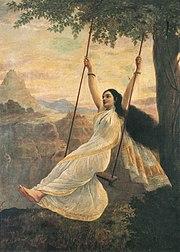 Mohini on a swing