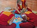 Moines tibétains réalisant un mandala (Parc oriental de Maulévrier) (7289068656).jpg