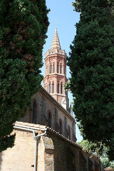 Église Saint Michel de Montbrun-Lauragais, vue du nord-est