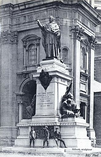 Ignace Bourget - Statue of Ignace Bourget sculpted by Louis-Philippe Hébert, located outside Mary, Queen of the World Cathedral