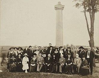 Stephen Dodson Ramseur - Monument dedication to S. D. Ramseur at Cedar Creek Battlefield near Middletown, Virginia, 1920