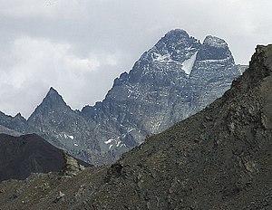 Monte Viso - Monviso seen from the Col de Chamoussiere (FR).