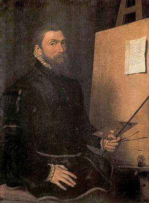 Antonis Mor - Anthonis Mor self-portrait,