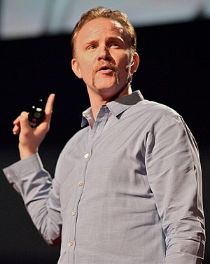Morgan Spurlock speaking at the February 28 - ...