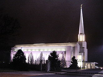 Chorley - Preston England Temple which serves the Latter-day Saint population of Northern England, Scotland and all Ireland