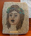 Mosaic depicting the tragic mask of a youth, Roman, Sabine, 1st-2nd century AD, stone - Redpath Museum - McGill University - Montreal, Canada - DSC08186.jpg