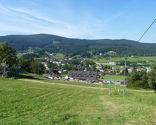 Mosty u Jablunkova Village in Moravian-Silesian Region, Czech Republic