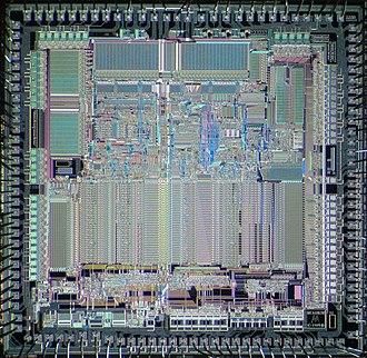 Motorola 68020 - Motorola 68020 die shot