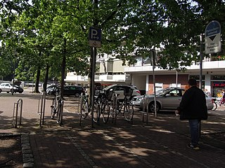 Motorradparkplatz in Nordhorn am Parkplatz Schweinemarkt