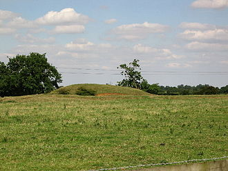 Deserted medieval village - Remains of a Norman motte and bailey castle at the lost village of Alstoe, in Rutland, England