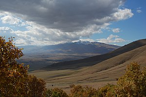 Landscape photography - Photograph showing weather and distant mountains, Armenia (2008)