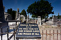 """Mount Jerome Cemetery """"George Hanley R.I.P. We Miss Your Wit And Wisdom Loved And Missed By All"""" (14558697299).jpg"""