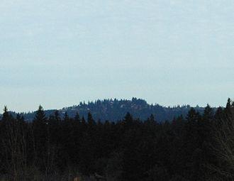 Tryon Creek -  Mount Sylvania as seen from Tualatin, southwest of the Tryon Creek watershed