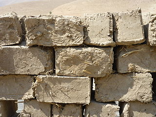 Mudbrick Unbaked earth used as building material blocks