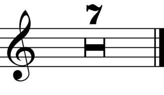Anacrusis - Image: Multirests narrow H bars