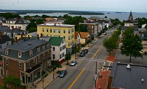Munjoy Hill - From the Portland Observatory looking northeast on Congress St.