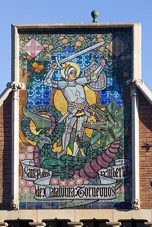 Casa de les Punxes - Mural Sant Jordi