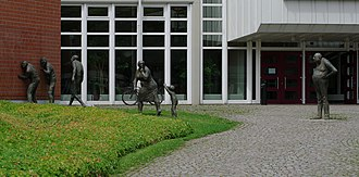 Hochschule für Musik Freiburg - Art at the main entrance of the Hochschule für Musik