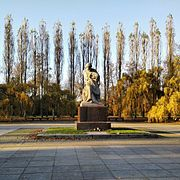 The 85-meter-tall statue of Mother Motherland crowns the Mamayev Kurgan