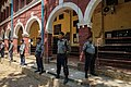 Myanmar Police outside Insein Township courtroom (Aung Naing Soe-VOA).jpg