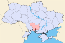Map of Ukraine with Mykolaiv highlighted
