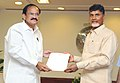 N. Chandrababu Naidu meeting the Union Minister for Urban Development, Housing and Urban Poverty Alleviation and Parliamentary Affairs, Shri M. Venkaiah Naidu, in New Delhi on June 26, 2014.jpg